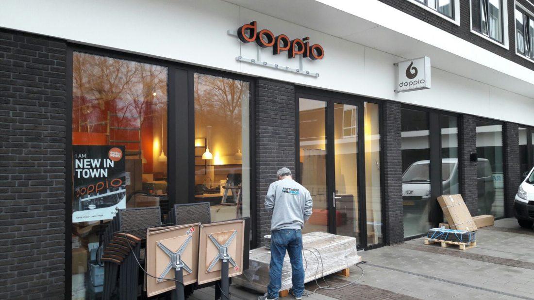 Doppio_Espresso_Wageningen_campus_lichtreclame_doosletters_led_lichtbak