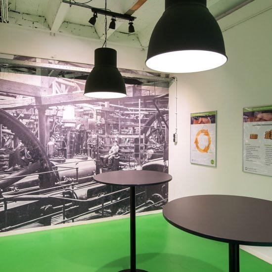 Fotowand_fotobehang_Avebe_Foxhol_kantine_historie_belettering_reclame_1_Groningen_Avebe_cafe
