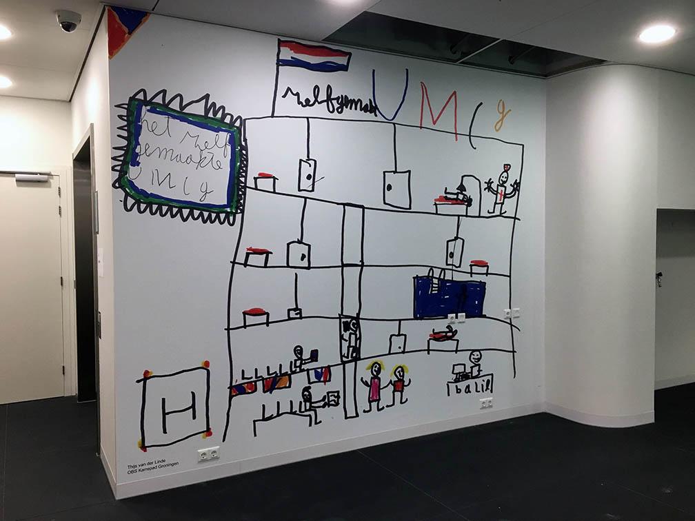 Fotobehang_PTCG_UMCG_kindertekening_tekening_Groningen_airtex